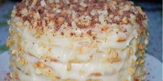 Замечательный творожный торт, приготовленный на сковородке!
