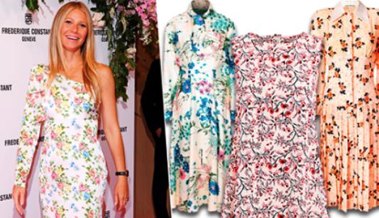 Тренды лета 2018 — выбираем платья в цветочек как у Гвинет Пэлтроу