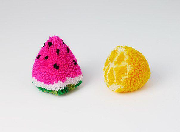 Mango-N: Как сделать фруктовые помпоны