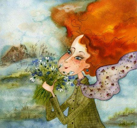 Позитивные акварельные иллюстрации Виктории Кирдий