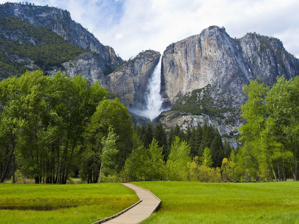 8. Водопад Йосемити водопады, красота, природа