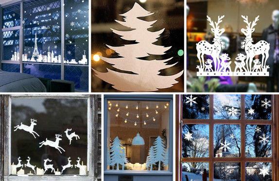 50 идей, как можно красиво украсить окна к Новому Году!