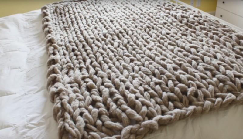 Вязание на спиц покрывало