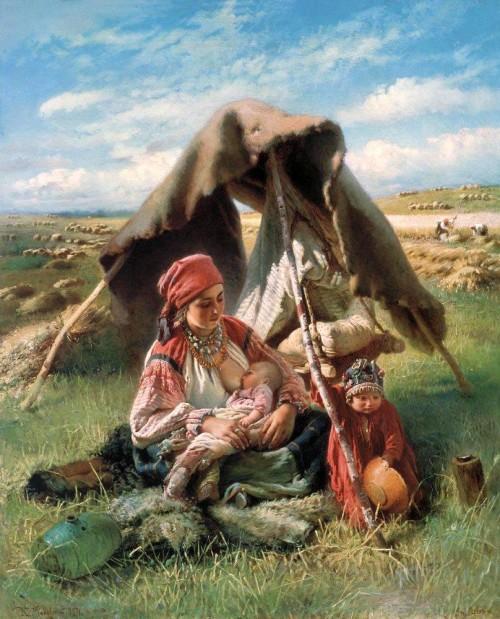 «Жница», К. Маковский