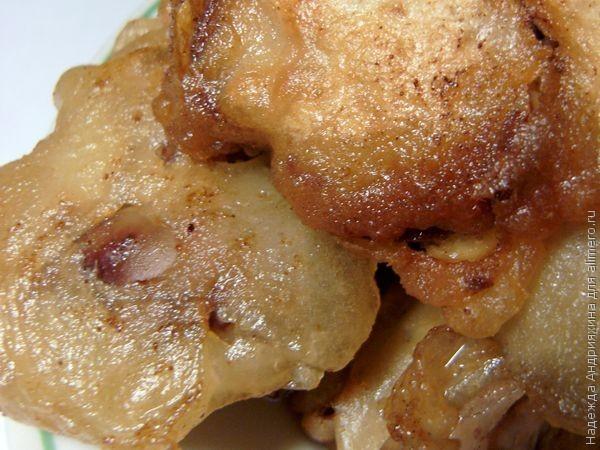 Куриная печень в пивном кляре