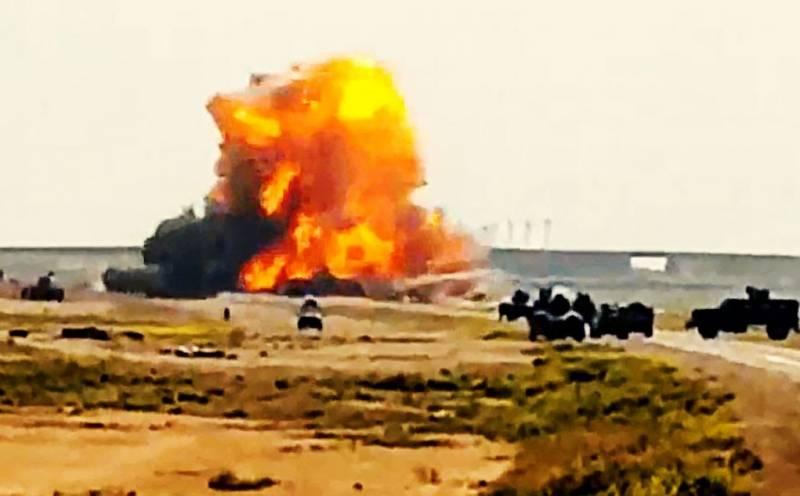 «Шахид-мобиль» ворвался в танковую колонну солдат Ирака
