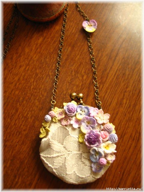 Украшение и декор предметов цветочками крючком (13) (480x640, 171Kb)