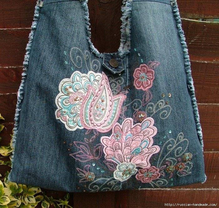 Модные сумки из старых джинсов (34) (700x667, 382Kb)