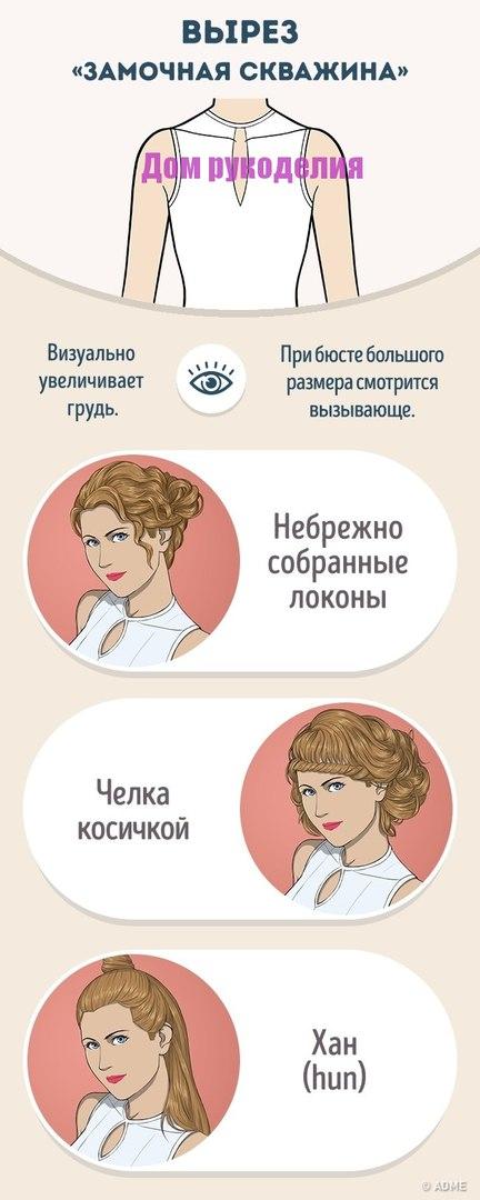 Как правильно сочетать прическу и вырез на платье