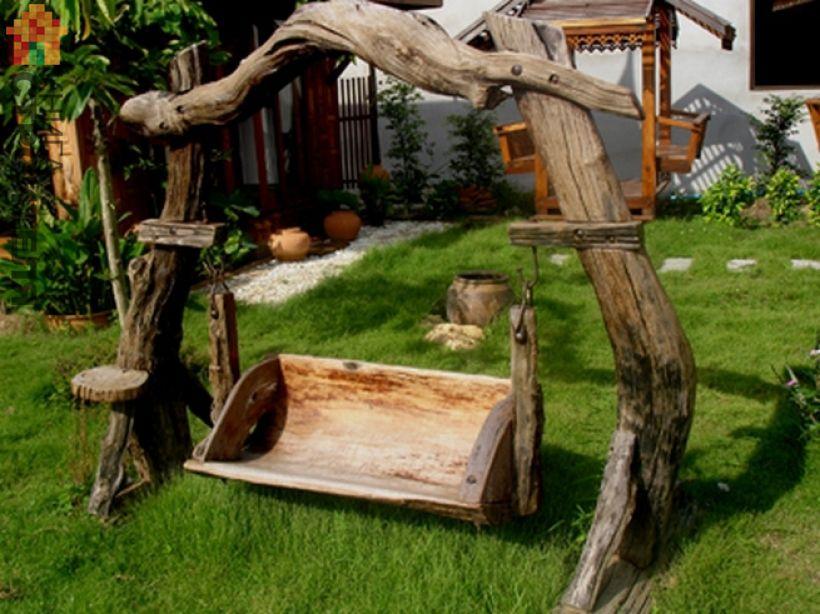 Дачный дизайн из дерева