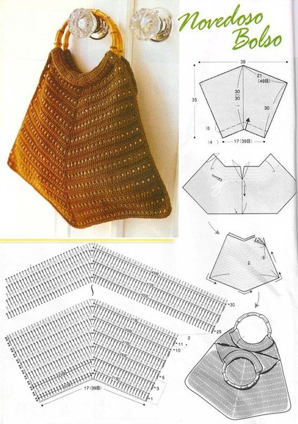 Вязаные сумочки со схемами
