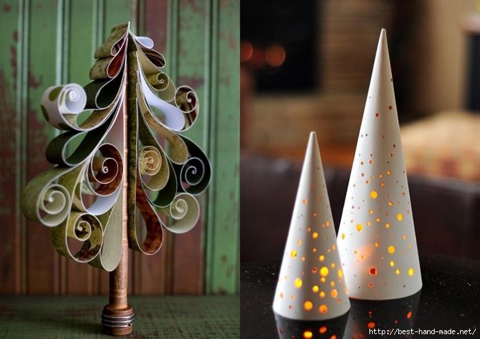 Новогодние елки своими руками из разных материалов