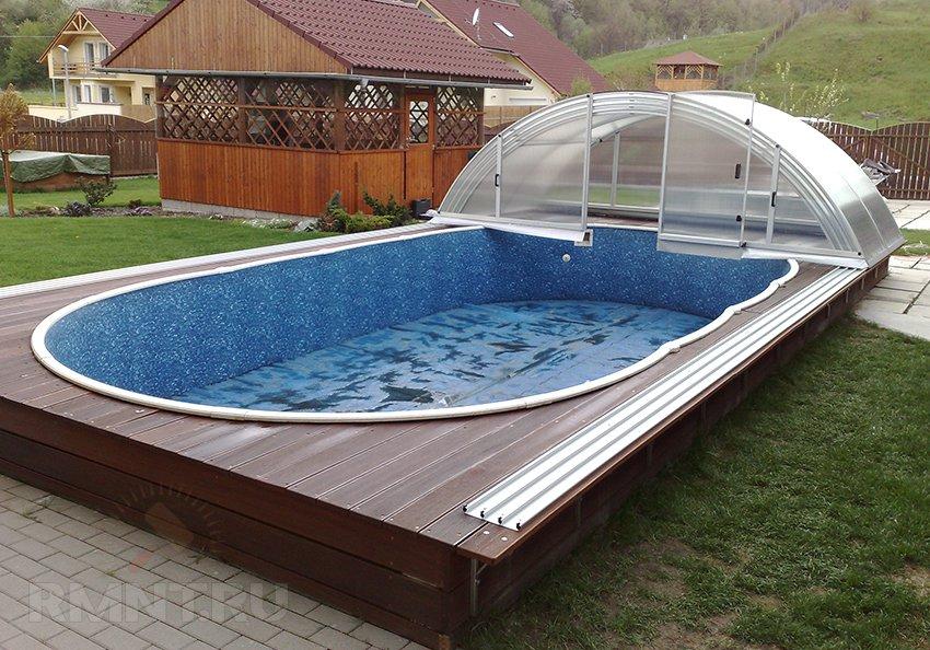 Сделать крышу для бассейна своими руками