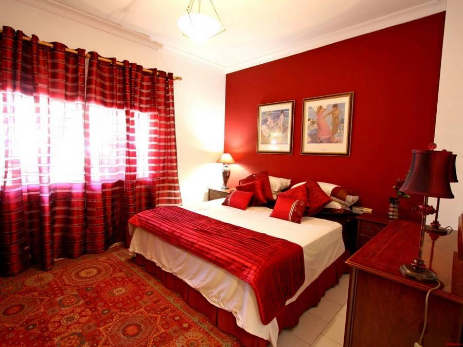Красная спальня фото