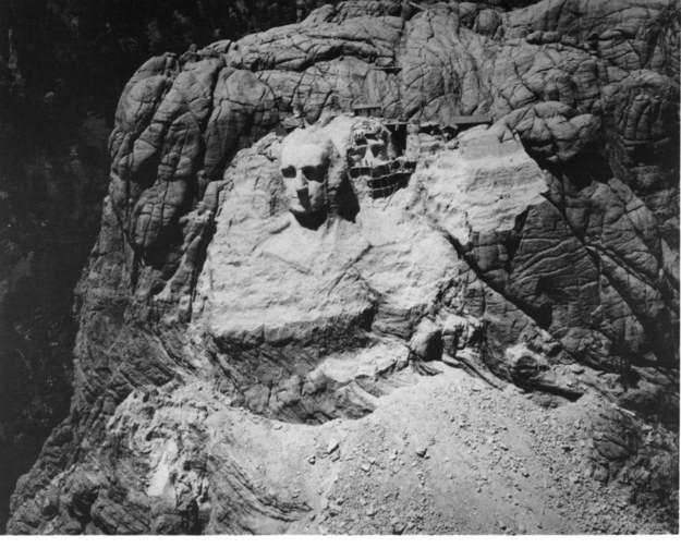 12. Гора Рашмор, США, 1933 год достопримечательности, здания, старые фото, строительство