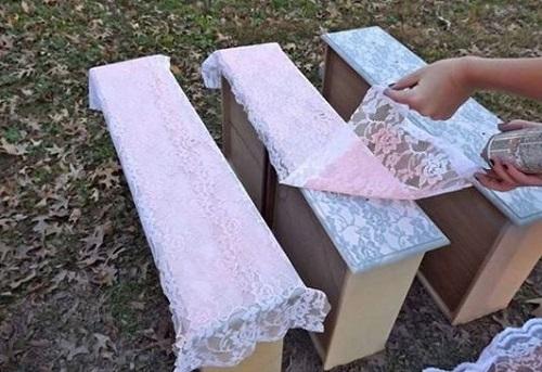 Как с помощью шторы и баллончика с краской придать мебели элегантный вид