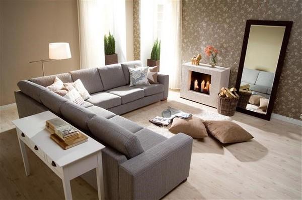 большие модульные диваны для гостиной