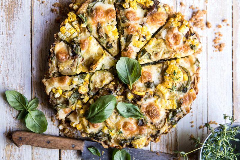 Изображение рецепта Пирог с сыром, цукини и кукурузой