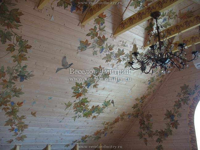 Декупаж на потолке своими руками фото 18