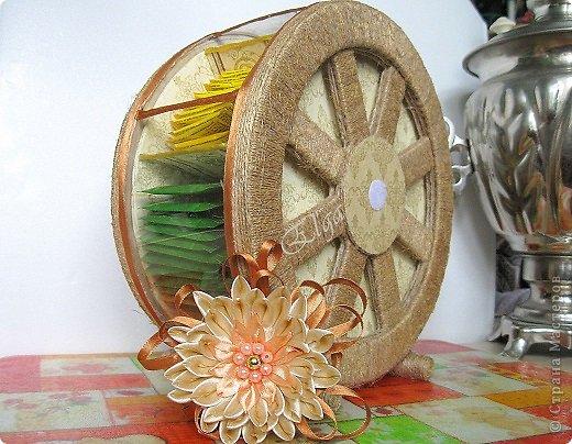 Мастер-класс Моделирование конструирование Чайное колесо Картон Клей Салфетки фото 17