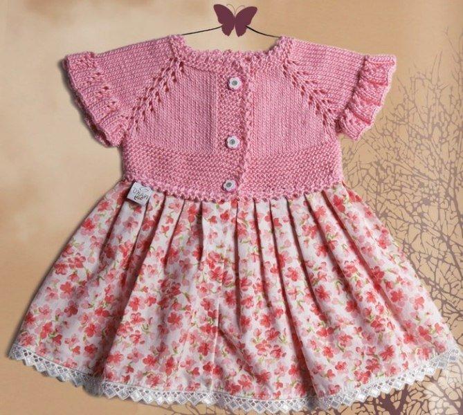 Платье для девочки на спицах