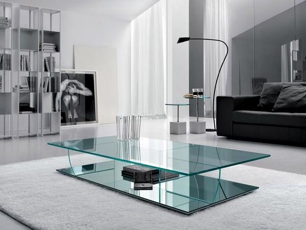журнальный столик из стекла