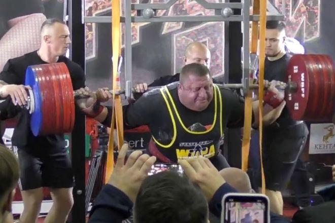 Присед 525 кг: абсолютный рекорд Алхазова