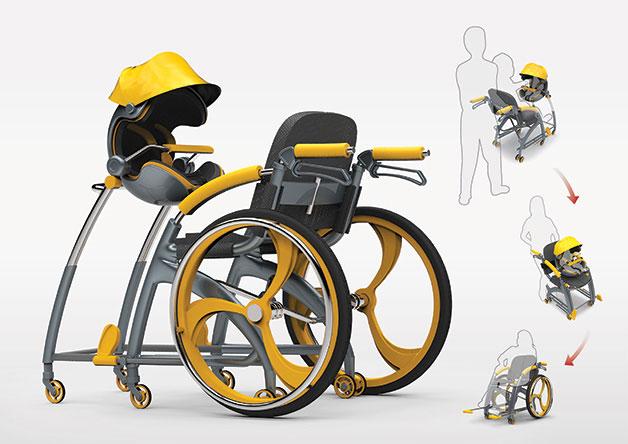 Адаптированная коляска для активных людей