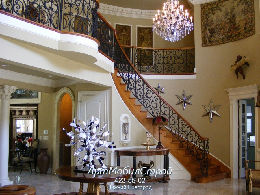 Лестницы на второй этаж для частного дома.