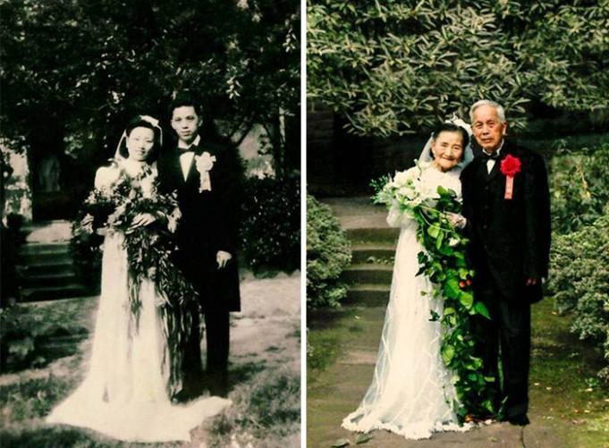 98-летняя пара воссоздала св…