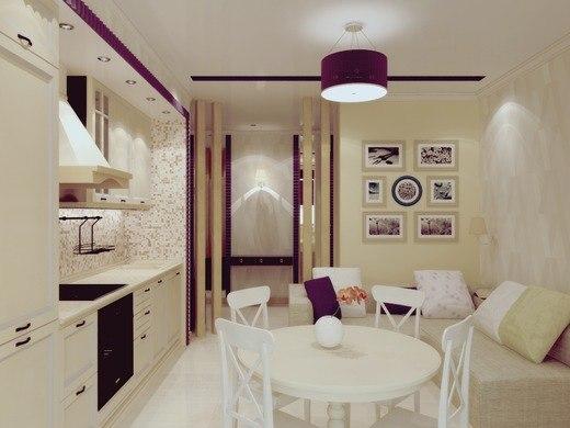 Уютный и стильный интерьер кухни