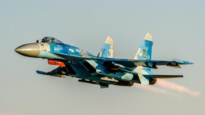 Украинский Су-27 разбился во…