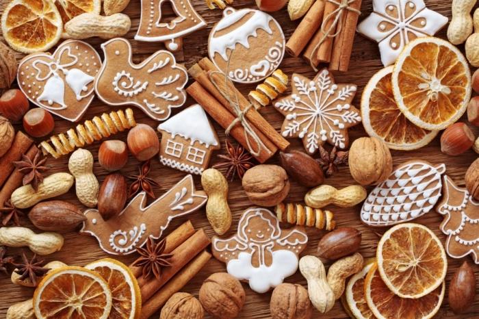 Ароматное имбирное печенье.