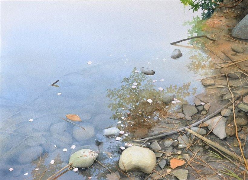 Японский художник-акварелист…