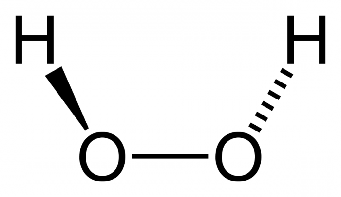 лечение: перекись водорода