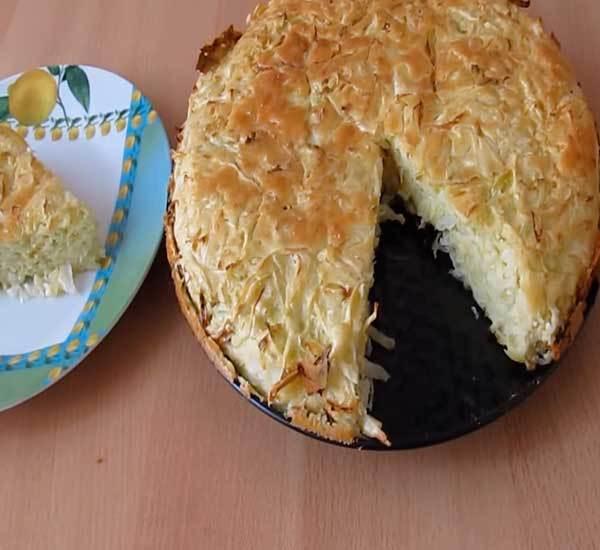 Капустный пирог заливной рецепт с фото пошагово
