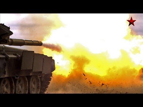 «Смерч», Т-90А и БТР-80А в замедленном действии