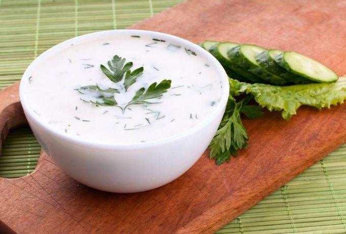 Легкий творожно-огуречный суп