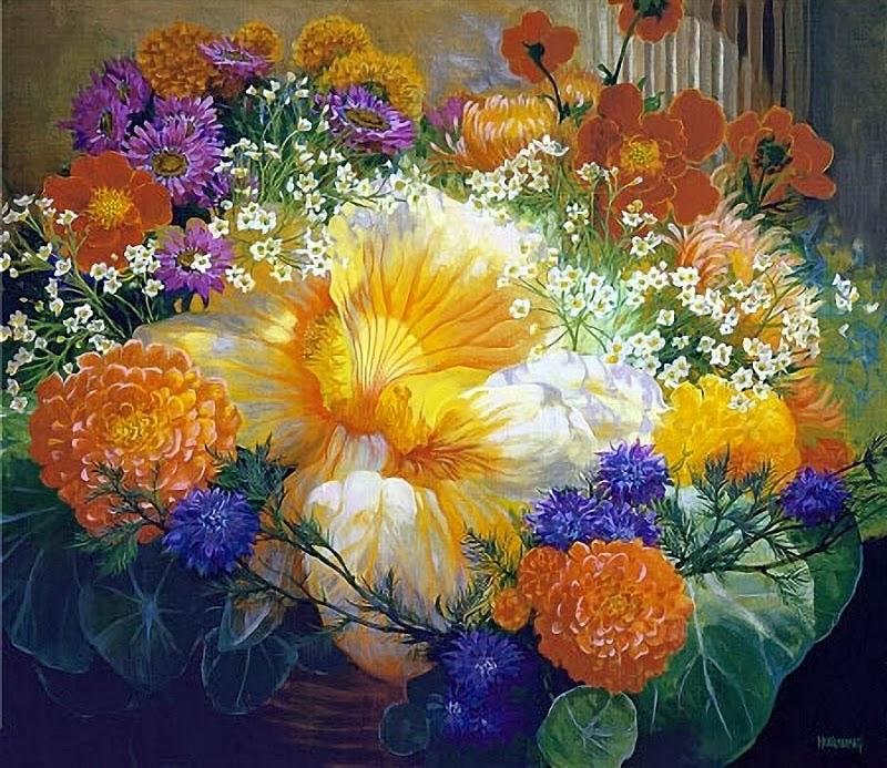 В мире цветов, художница Elizabeth Horning