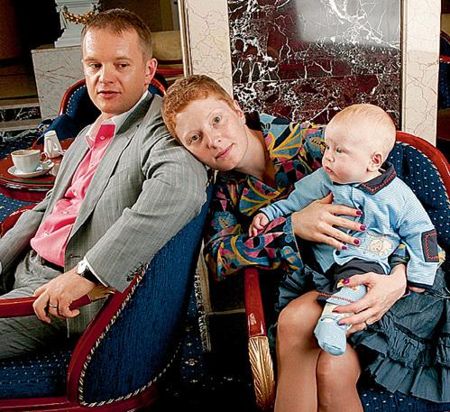 Амалия с третьим мужем - Вадимом БЕЛЯЕВЫМ и их общим сыном Германом