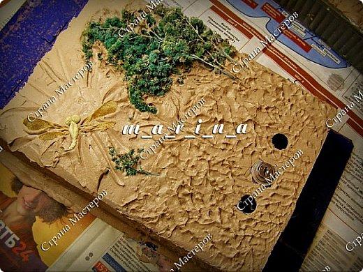 Декор предметов Мастер-класс Ассамбляж Почтовый ящик в технике Терра МК Гипс Краска Материал природный фото 15