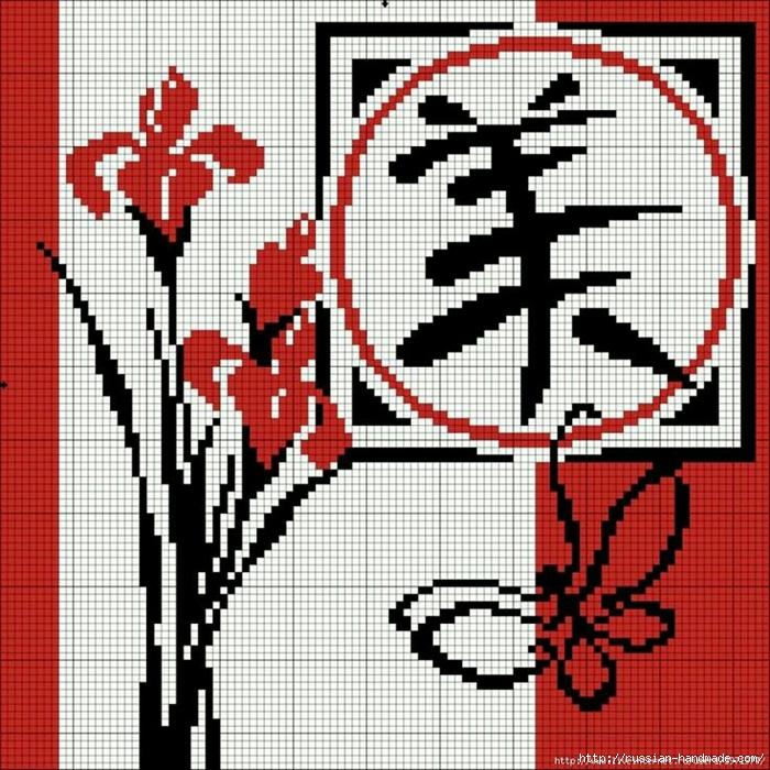 Вышивка в японском стиле. Схемы (7) (700x700, 408Kb)