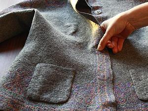 Прикрепляем войлочный кармашек к жакету | Ярмарка Мастеров - ручная работа, handmade