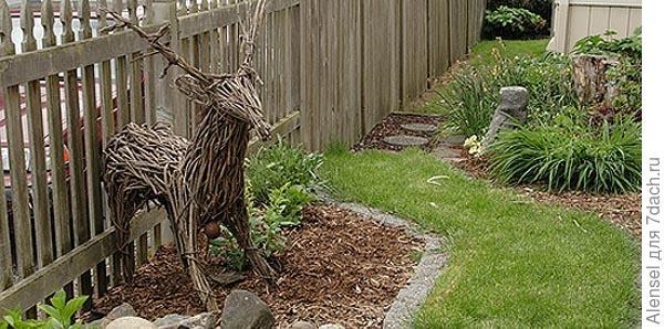 олень из прутьев