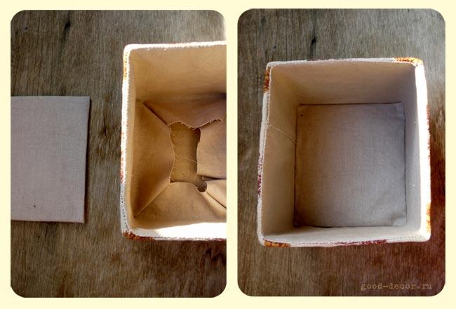 Обшиваем коробку