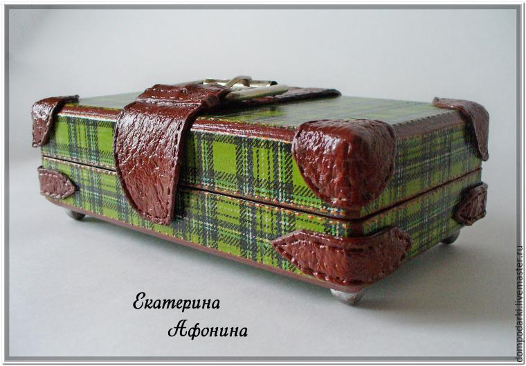 Шкатулка-купюрница в виде чемодана. Мастер-класс