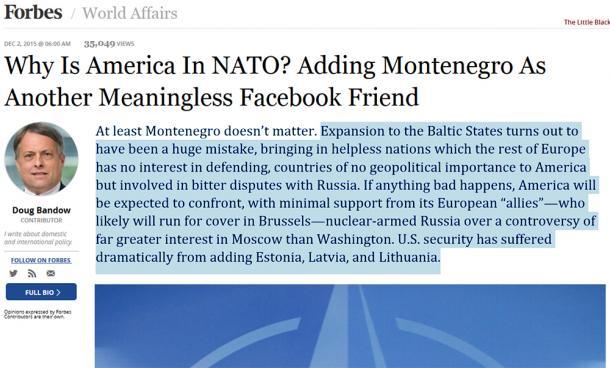 Американцы задумались об исключении Латвии из НАТО