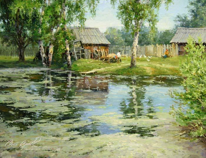 Деревенские пейзажи Сергея Малова