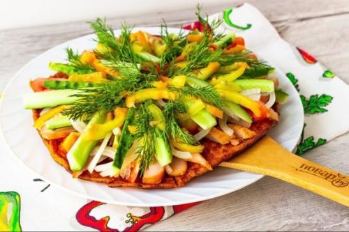 Курица с овощами на гречнево…