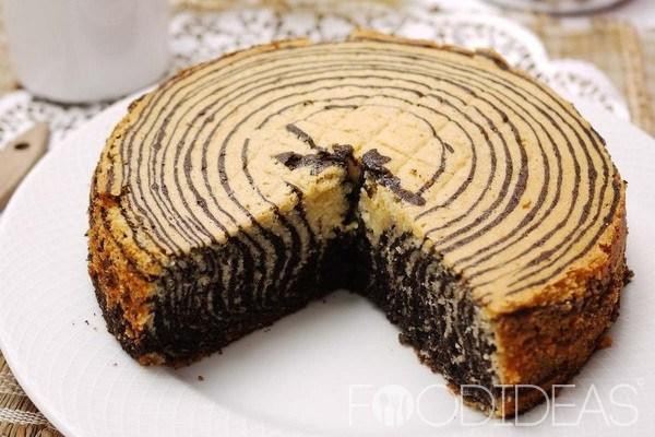 Торт зебра майонезе рецепт фото